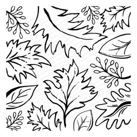 Cover-a-Card Sketched Leaves
