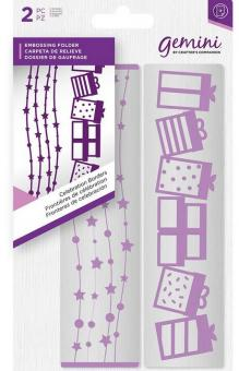 Gemini Embossing Folder (2PC) - Celebration Borders