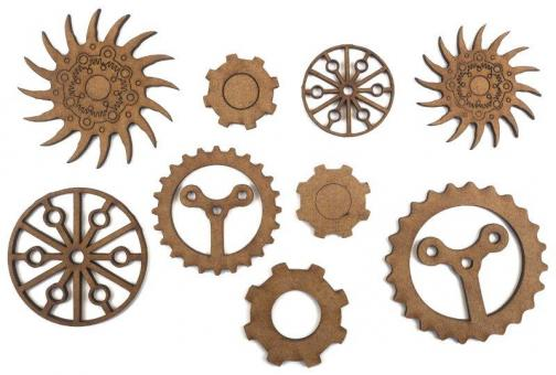 Chipbord - Creative Expressions Art-Effex Cogs & Gears