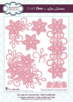 Creative Expressions - Cut and Lift Star Flower Set Craft Die