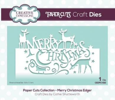 Creative Expressions - Paper Cuts Collection - Merry Christmas Craft Die