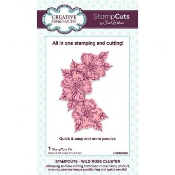 Creative Expressions Sue Wilson Wild Rose Cluster StampCuts Die