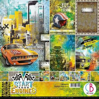 iao Bella 12x12 Paper Pad Start your Engines