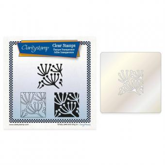 Claritystamp - Quees Anne's Lace Tile Square Stamp Set + Stencil