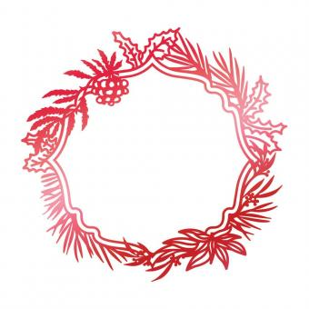 Couture Creations Hotfoil Stamp - Let Every Day Be Christmas Wild Wreath
