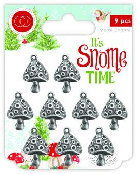 Craft Consortium It's Snome Time Metal Charms Toad Stools