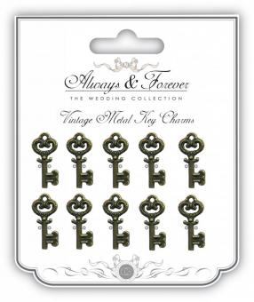 Craft Consortium Metal Vintage Key Charms Small