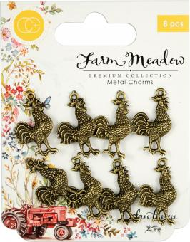 Craft Consortium Rooster Metal Charms