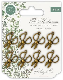 Craft Consortium The Herbarium Herb Scissors Metal Charms