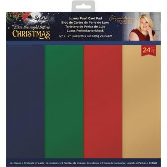 Crafter's Companion Twas the Night Before Christmas 12x12 Inch Pearlescent Card Pad