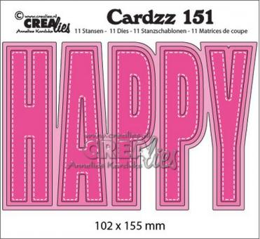 Crealies Cardzz no 151 HAPPY