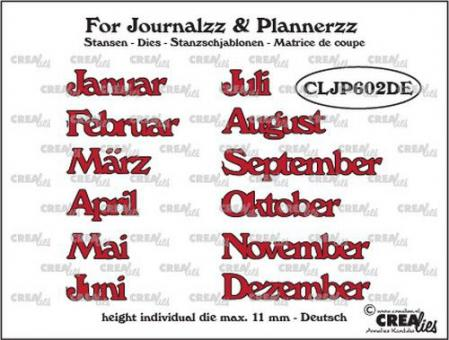 Crealies Journalzz & Pl Stansen Monate