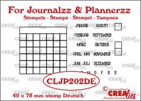 Crealies Journalzz & Pl Stempels Monat tracker