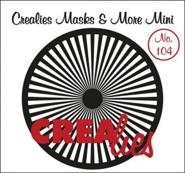 Crealies Masks & More Mini no. 104 Sun straight rays