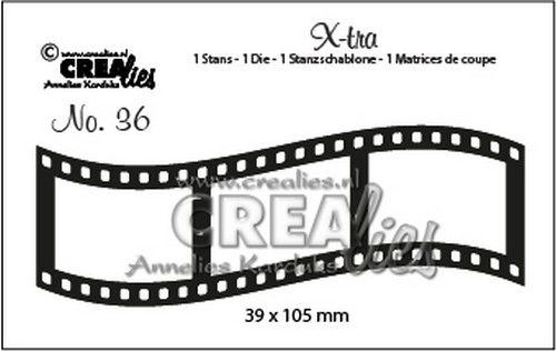 Crealies X-tra no. 36 Curved Filmstreifen Medium