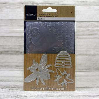 Presscut Embossing Folder & Die Set - Bee Hive