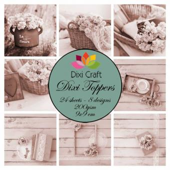 Dixi Craft Dixi Toppers Shabby Chic - Sepia 9x9cm