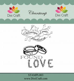 Dixi -  English Texts Clear Stamps