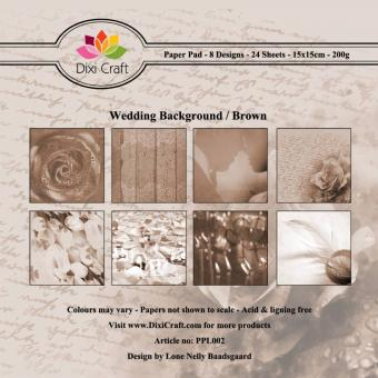Dixi Paper Pack -  Wedding Background Brown