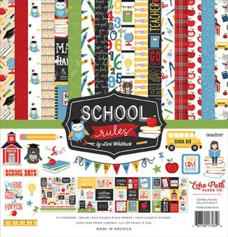 Echo Park School Rules 12x12 Inch Collection Kit