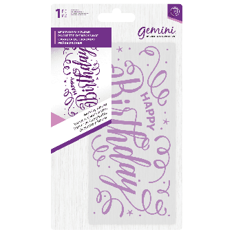 Gemini Embossing Folder - Birthday Banner