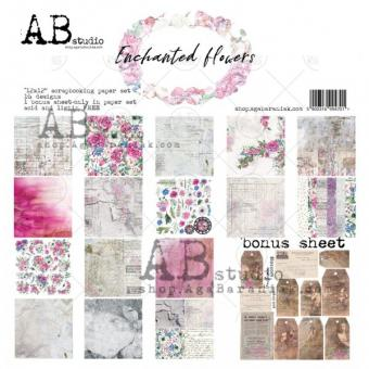 "ABStudio&TandiArt - ""Enchanted flowers""- 12'x12'"