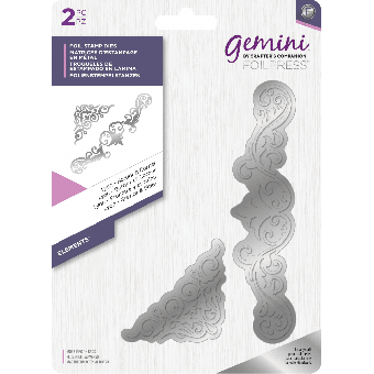 Gemini Foil Stamp Die - Elements - Lyon - Border & Corner
