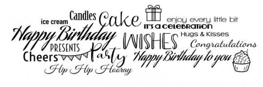 Woodware Clear Singles - All About Birthdays