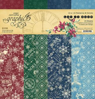 Graphic 45 Let it Snow 12x12 Inch Patterns & Solids Paper Pad