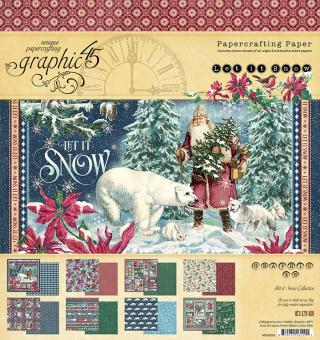 Graphic 45 Let it Snow 8x8 Inch Paper Pad