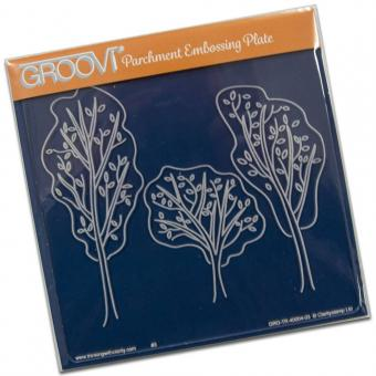 Claritystamp Ltd Trees Groovi Plate A5 Square