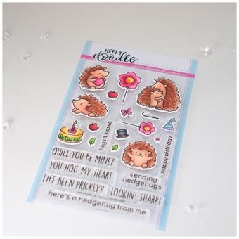 Heffy Doodle Quill You Be Mine Clear Stamps