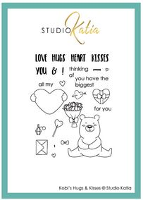 Katia Studio -  KOBI'S HUGS & KISSES | Clear Stamp Set