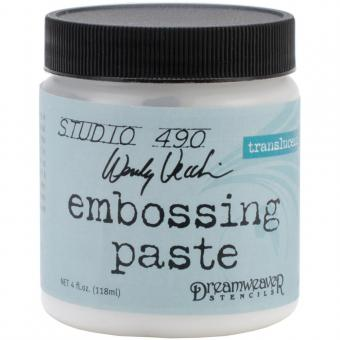 Studio 490 Embossing Paste - Transluscent