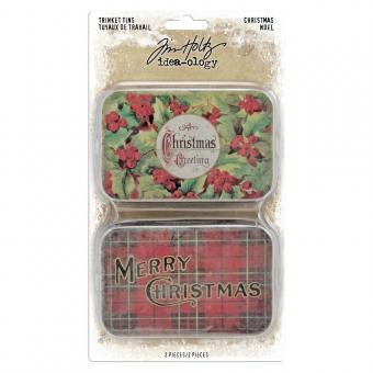 Idea-ology Tim Holtz Trinket Tins Christmas