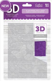 Crafter's Companion 3D Embossing Folder -  In the Garden
