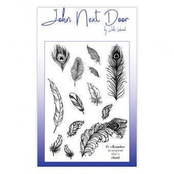John Next Door Clear Stamp - Feathers