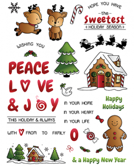 LDRS Creative Candy Cane Lane Clear Stamps