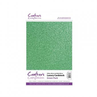 Crafter's Companion Luxury Cardstock Pack - Green