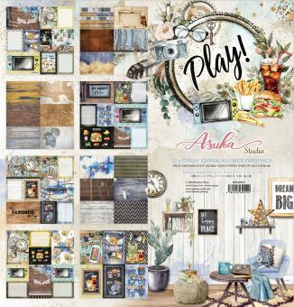 Memory Place Play! 12x12 Inch Journaling Cards Paper Pack