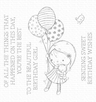My Favorite Things Beautiful Birthday Girl Clear Stamps