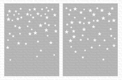 My Favorite Things Card-Sized Star Confetti Stencil Set
