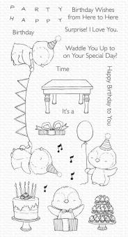 My Favorite Things Penguin Party Clear Stamps