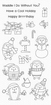My Favorite Things Polar Penguins Clear Stamps