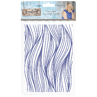 Sara Signature Collection Nautical - 2D Embossing Folder - Ocean Waves