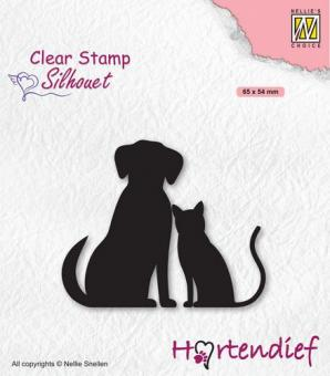 Nellies Choice Clearstamp - Silhouette Pets - Friends