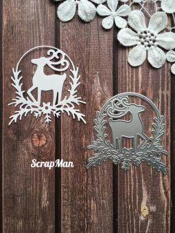 Scrapman - Wreath with Deer