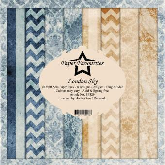 Paper Favourites London Sky 12x12 Inch Paper Pack