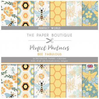The Paper Boutique Perfect Partners – Bee Fabulous 8×8 Pads