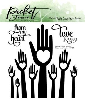 Picket Fence Studios From My Heart 4x4 Inch Clear Stamps